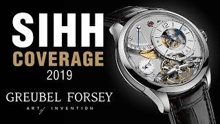 SIHH 2019: Greubel Forsey Balancier, and Art Piece Historique,