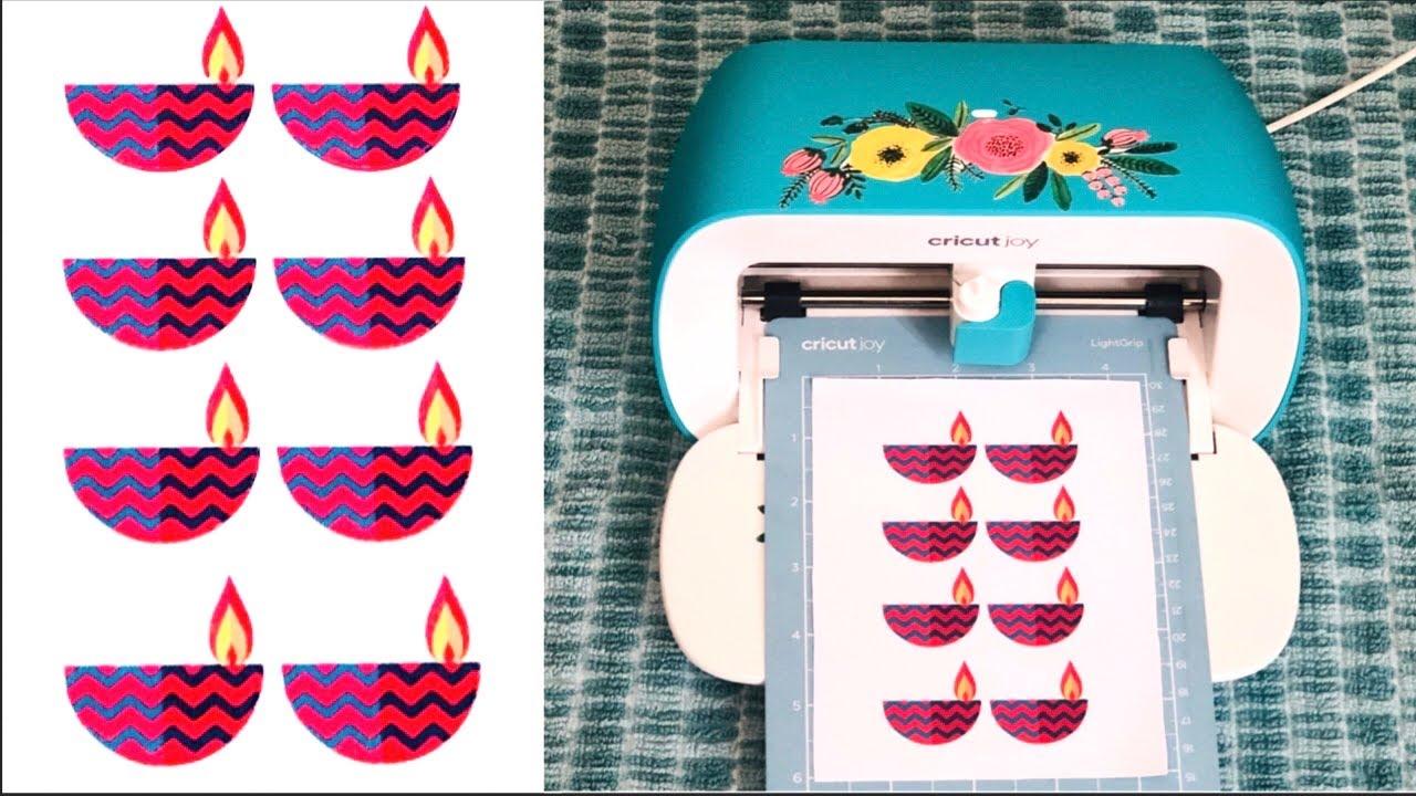 How To Make Printable Vinyl Stickers With Cricut Joy Cricut Joy Print And Cut Tutorial Youtube