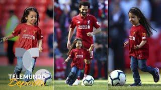 La hija de Mohammed Salah vuelve a robarse el show en Liverpool  Telemundo Deportes
