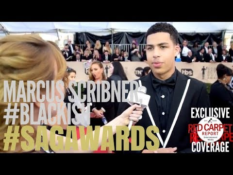 Marcus Scribner, #blackish interviewed on the 24th Screen Actors Guild Awards Red Carpet #SAGAwards