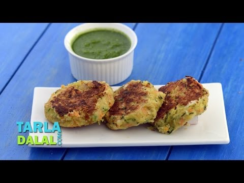 Chick Pea Tikkis (Protein and Calcium Rich recipe for Pregnancy) by Tarla Dalal