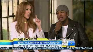 Celine Dion & Ne-Yo - Incredible (Behind-The-Scenes) GMA 30/1/14