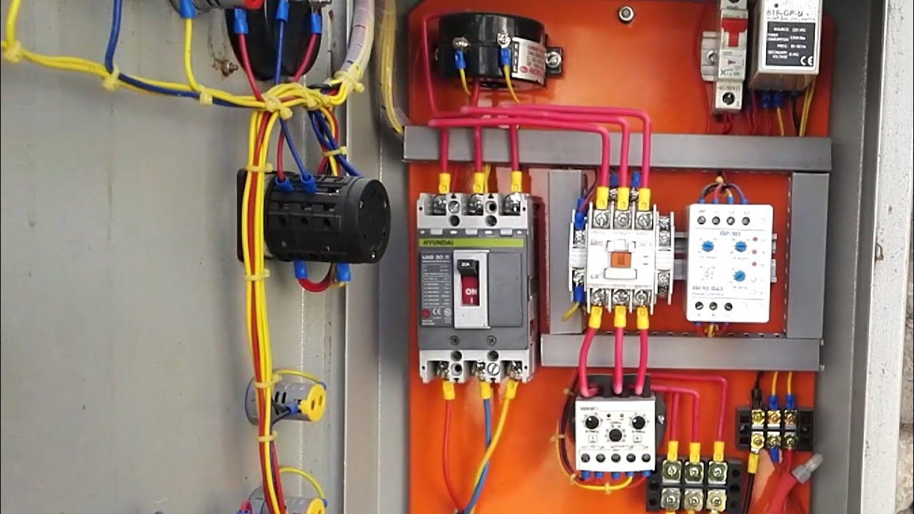 Dol Starter Panel  And Wiring Diagram Direct Online
