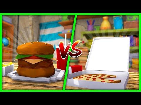 Minecraft - BURGER HOUSE VS PIZZA HOUSE