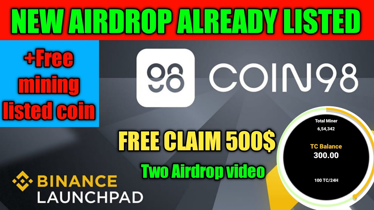 New airdrop today#trust wallet#coin98#free airdrop#