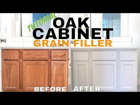 Refinishing Oak Cabinets | Aqua Coat Hide Grain