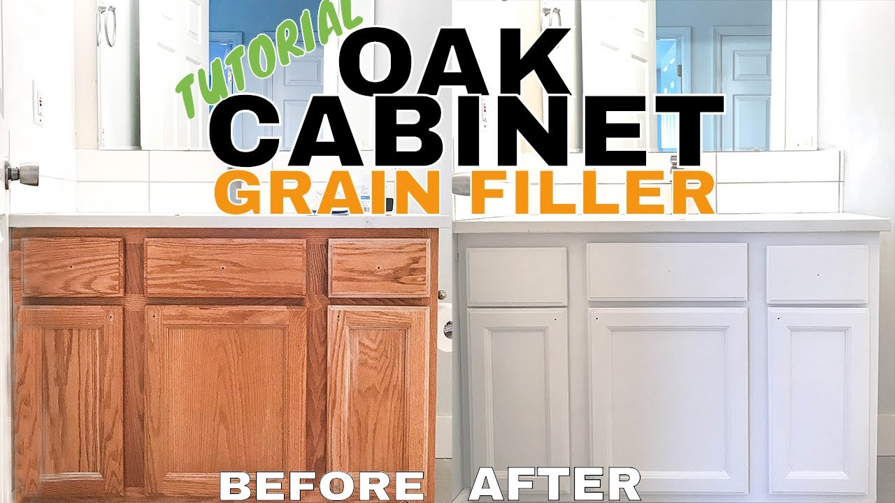 Refinishing Oak Cabinets Aqua Coat Hide Grain Youtube