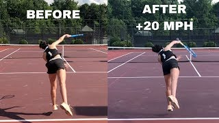 This will TRANSFORM YOUR SERVE and add up to 20 MPH to it! Serve technique lesson