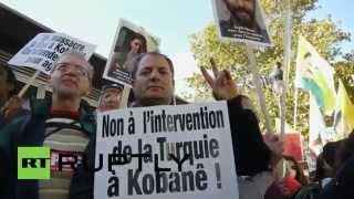 France: Kurdish protesters march for Kobane, slam EU for 'funding' IS