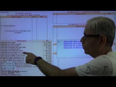 Bank Accounts Profit and Loss Account Sum 1