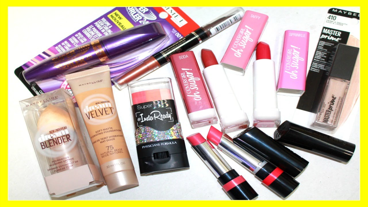 New Drugstore Makeup 2016 Haul Maybelline Rimmel Covergirl Trio 1 Physicians Formula Youtube