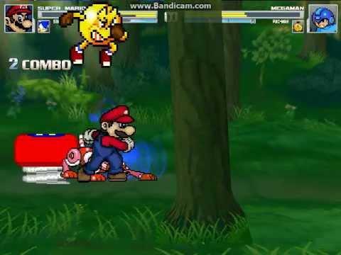 Mario Vs Sonic Vs Megaman Vs Pacman MUGEN Episode #...