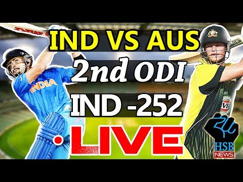 Live Match : India vs Australia 2nd ODI, LIVE Cricket Score , Australia Needs 253 Run to win