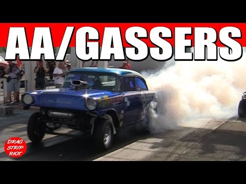 2016 Gasser Reunion ScottRods AA/Gassers Nostalgia Drag Racing Cars Thompson Raceway Park USA Video