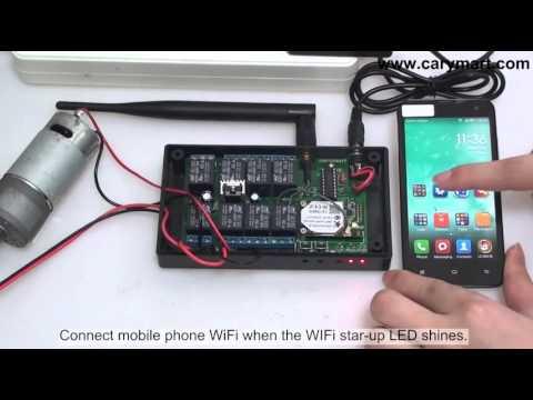 Controlling  DC motor via mobile phone wifi controller