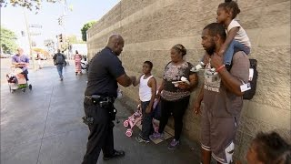 Police Officer Strives To Practice 'Patience And Love' Toward Homeless Population In L.A.'s Skid …