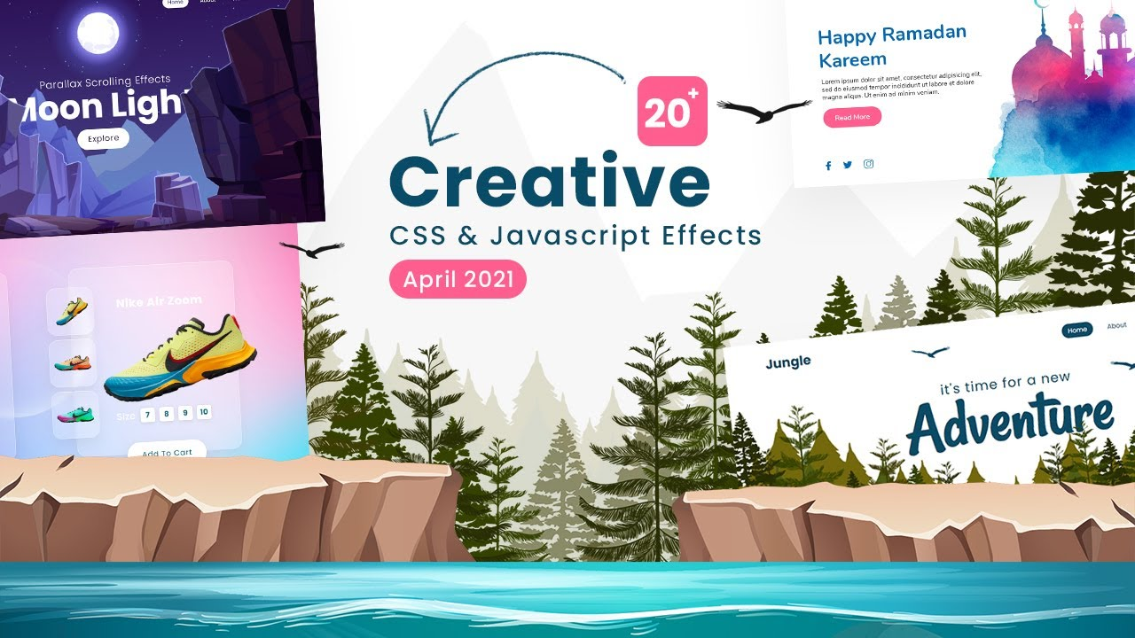 20+ Amazing Examples of Animation & Hover Effects using CSS & Javascript | Top CSS Effect April 2021