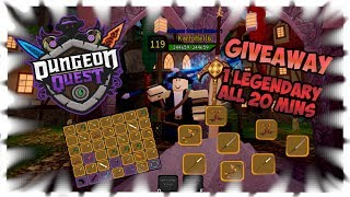 Dungeon Quest GiveAway Legendary all 20 Mins.!! Part 2| GiveAway | Nightmare | Roblox