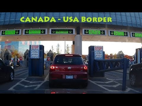 Crossing Canada US Border Through Rainbow Bridge In Niagara Falls By Car