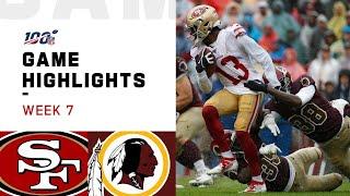 49ers vs Redskins Week 7 Highlights | NFL 2019