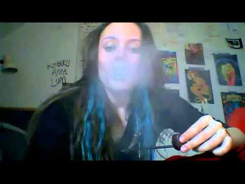 girl smoking her new pipe segment mp4 youtube