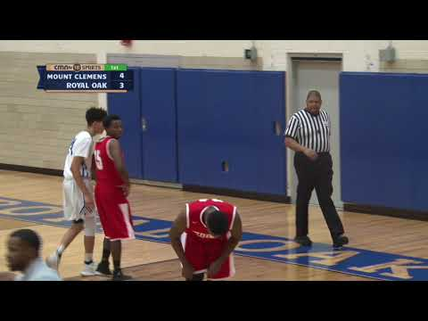 CMNtv Sports - Mount Clemens vs Royal Oak Boys Basketball - January 23, 2018