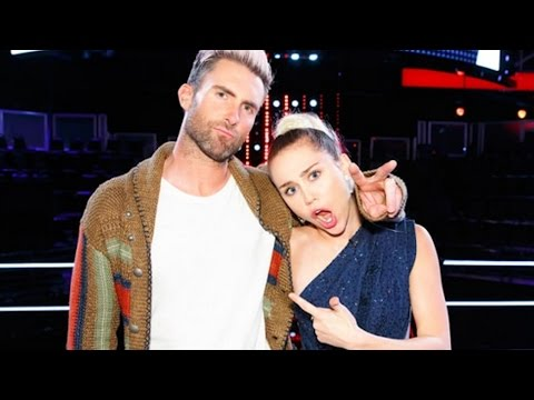 Adam Levine & Miley Cyrus Butting Heads on 'The Voice' | Us Weekly Video