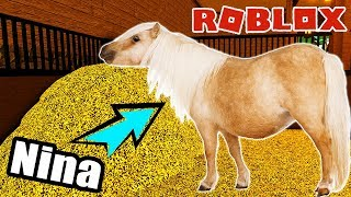 Roblox: 1 MAL PFERD SEIN - Nina as a foal in the world of horses | Horse World Simulator