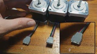 Remplacement d'un cable de moteur pas à pas + Prise spéciale.