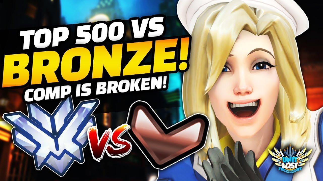 Overwatch - Top 500 Vs BRONZE?! WTF!! Role Queue Competitive is BROKEN!