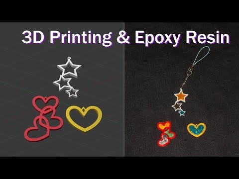 3D Printing + Resin: Charms & Jewelry