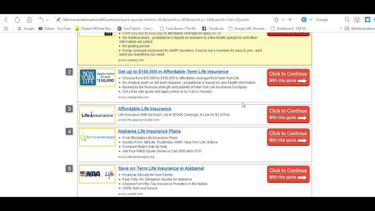 Term Life Insurance Online Quote Benefits Of Coverage 80 Years Plans Insurance  Youtube