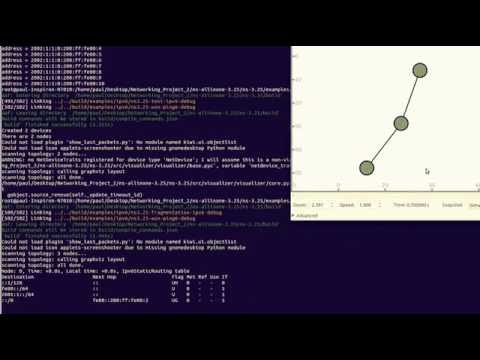 NS3 networking simulator visualizations with python