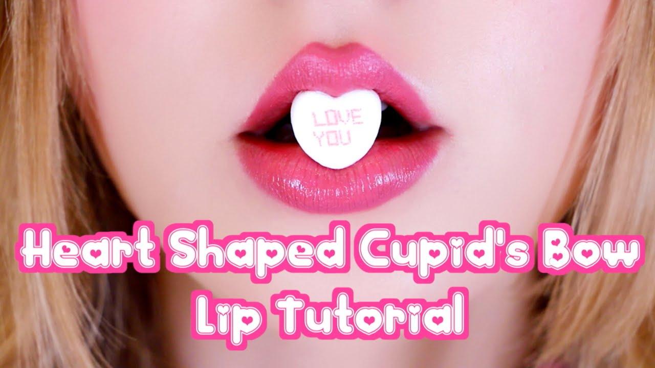 Heart Shaped Cupid's Bow lip Tutorial