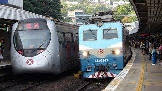 九広鉄路・広州からの直通列車と港鐵SP1900形(E221)@東鐵綫・九龍塘