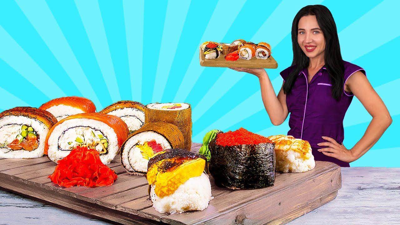Самый огромный суши ролл / Мы сделали огромный ролл весом в 30 кг