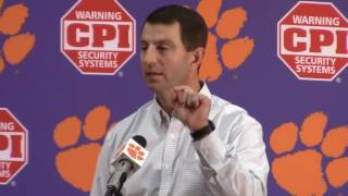 TigerNet.com - Dabo Swinney Clemson Media Day Press Conference - Part 2
