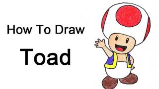 How to Draw Toad (Nintendo/Mario Bros.)