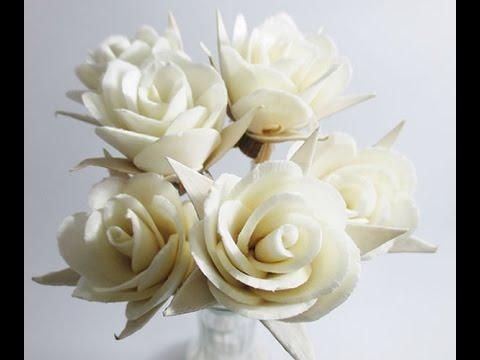 Sepal Rose Flower Sola Wood Handmade Reed Diffuser Craft Decor  Fragrance DIY Wholesale Lot#SW005