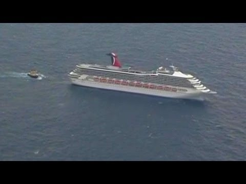 Thumbnail: Powerless Carnival Cruise Ship Heading Back to Port