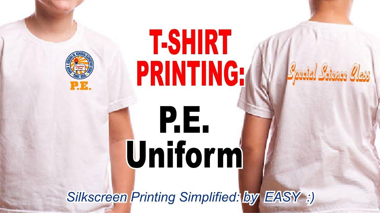 6ac9d0c7 T-shirt Printing - School P.E. Uniform - (Screen Printing) - YouTube