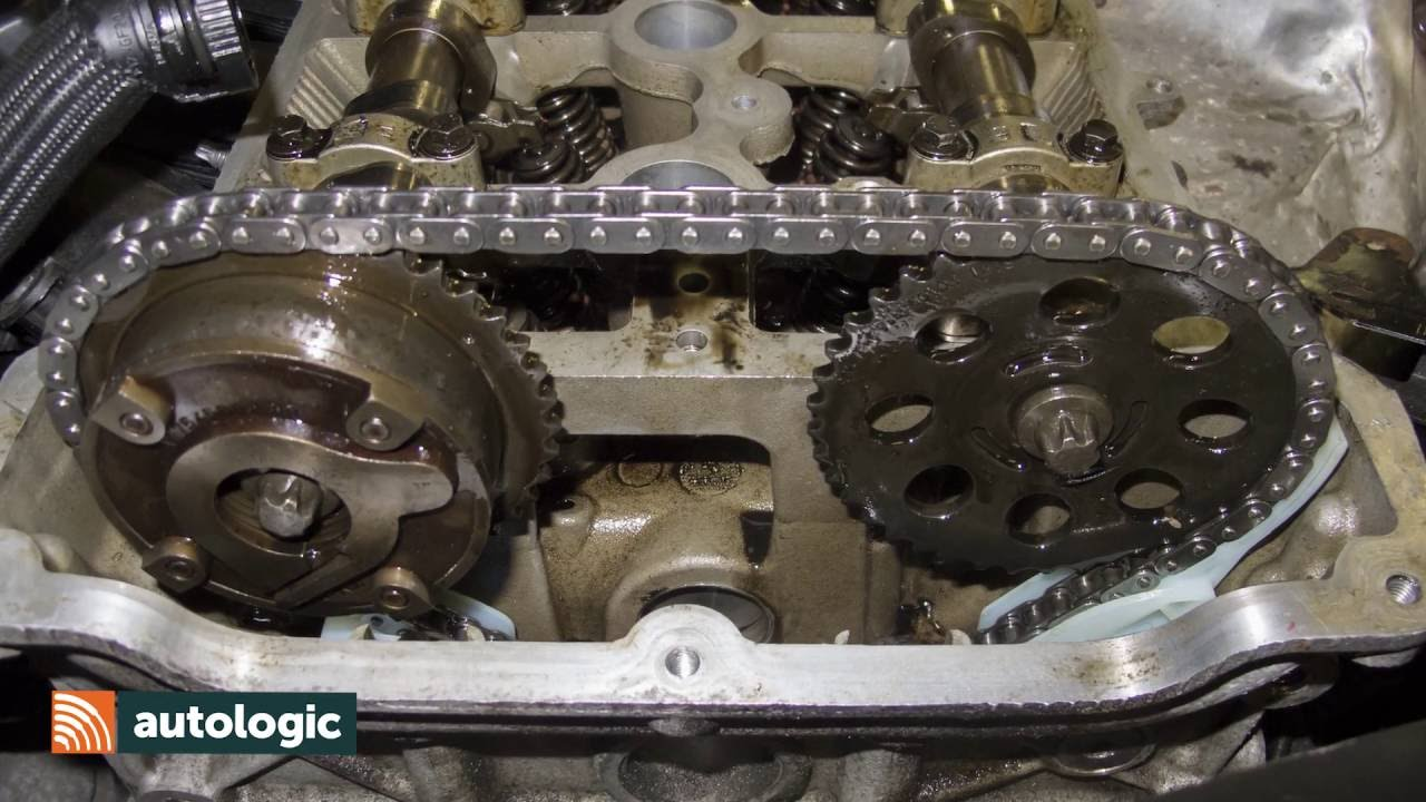 hight resolution of mini n engine timing chain replacing