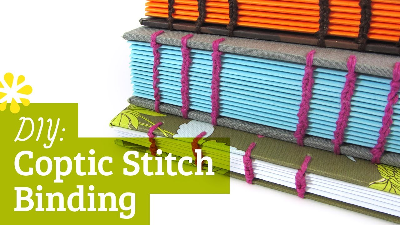 Diy coptic stitch bookbinding tutorial sea lemon youtube solutioingenieria Images