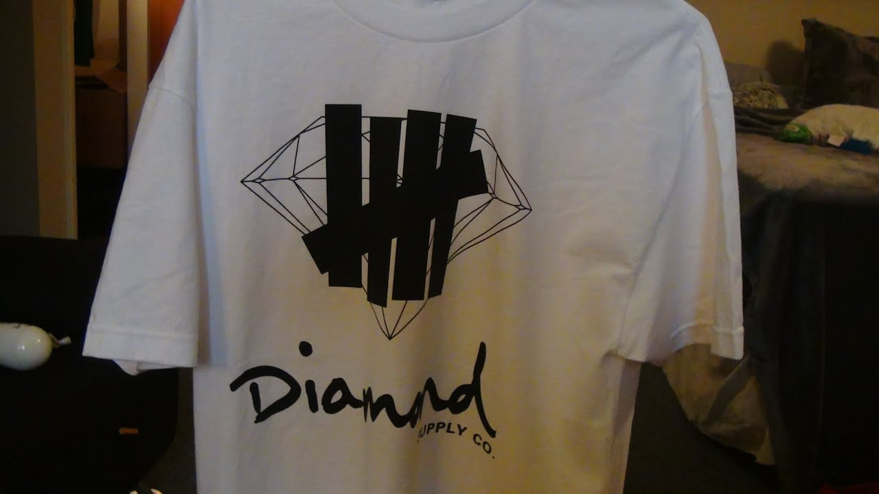 White t shirt company - Diamond Supply Co X Undefeated Logo Overlay White T Shirt