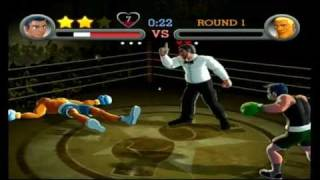 Punch Out Wii Balance Board Motion Controls Demonstration