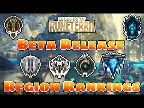 ALL 6 RUNETERRA REGIONS REVIEWED!! | Legends of Runeterra Card Game | Beta Region Rankings | LoL TCG