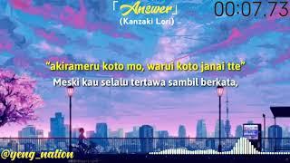Download Lagu Black Clover Ending 11 Lyrics.「Answer」KAF (Kanzaki Lori) lyrics by :@yeng_nation mp3