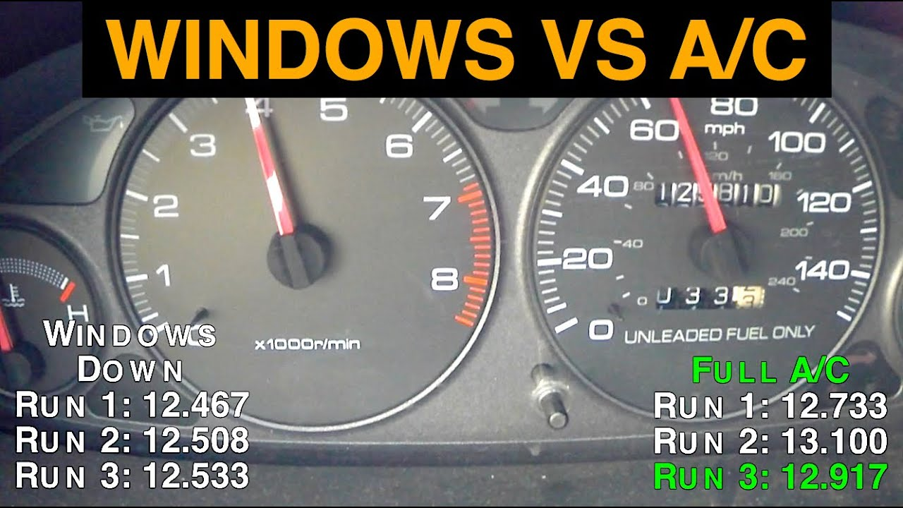 Air Conditioning vs. Windows Down - Best Gas Mileage - YouTube