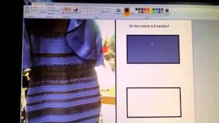 Ecco il vero colore del vestito (avrò risolto il dilemma????)