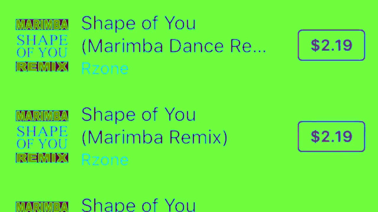 shape of you (marimba remix) iphone x ringtone